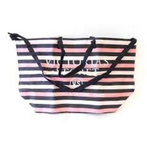 Victoria's secret pink striped tote bag NEW nwt